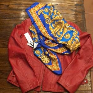 VERSACE Iconic Blues/gold Define Versace scarf